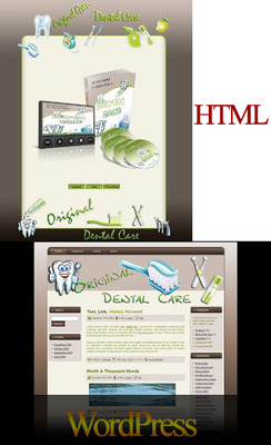 Product picture Natural Dental Care HTML & WordPress Themes with PLR
